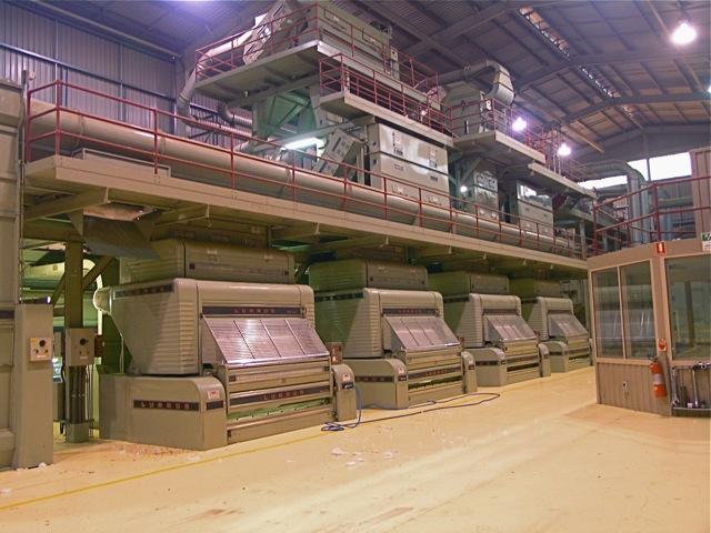 Fibre processing plant